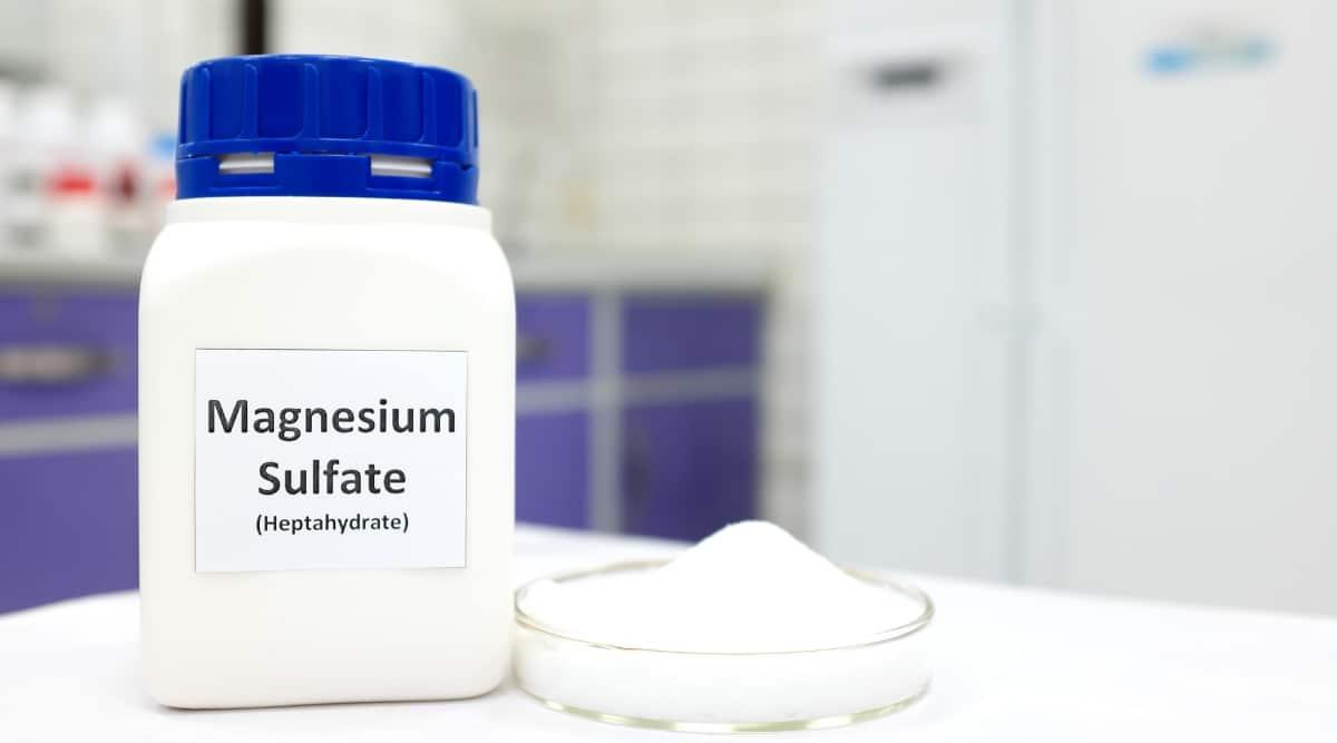 Magnesium Sulfate in a Dish